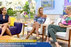 """Fazenda Recorde. Foto do site da O TV Foco que mostra Eliminada da Fazenda, Rita Cadillac desabafa sobre fama de vilão de Marcos Harter: """"Ele está muito machucado pela vida"""""""