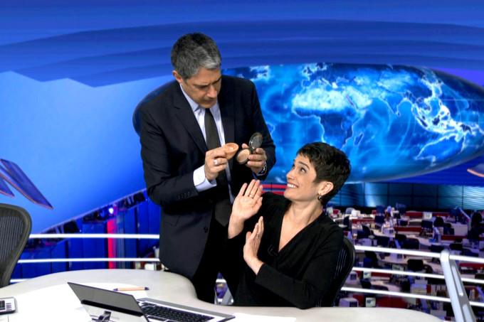 William Bonner e Sandra Annenberg (Foto: Divulgação)