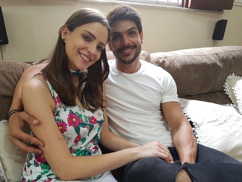 Lucas Fernandes e a noiva (Foto: Reprodução)