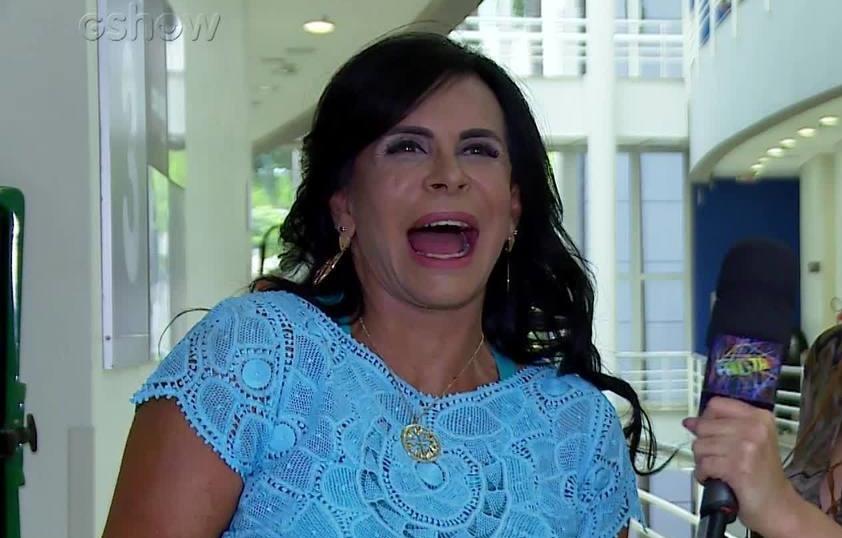 Gretchen nos bastidores da Globo (Foto: Reprodução/GShow)