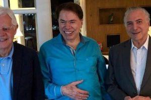 Moreira Franco, Silvio Santos e Michel Temer (Foto: Reprodução/Twitter)