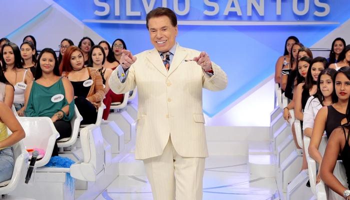 Silvio Santos em seu primeiro programa de 2018 (Foto: Lourival Ribeiro/SBT)