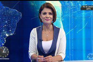 Analice Nicolau interage com toda a equipe do SBT Notícias