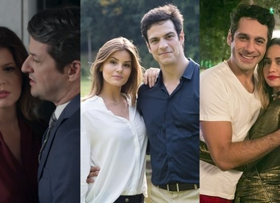 Casais da novela Pega Pega (Fotos: Globo/Reprodução/Adriana Garcia/Rafael Campos)