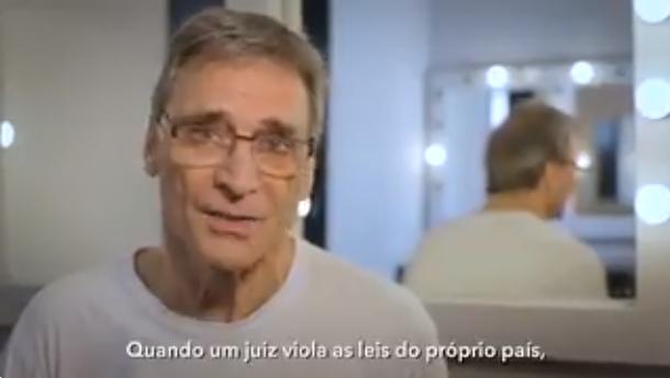 O ator Herson Capri em vídeo que defende Lula (Foto: Reprodução)