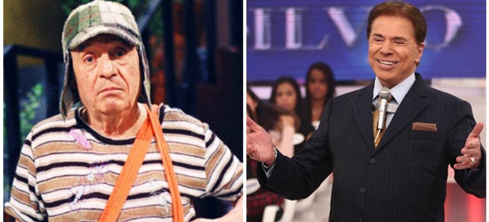 Chaves e Silvio Santos (Foto: Reprodução)