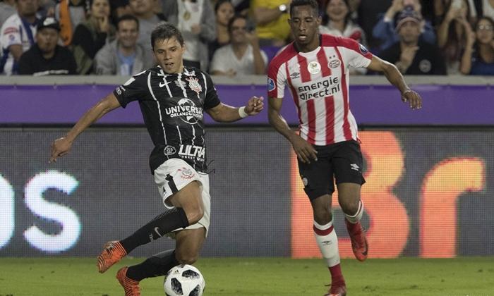 O jogador Ángel Romero no jogo Corinthians X PSV na Florida Cup (Foto: Daniel Augusto Jr./Ag. Corinthians)