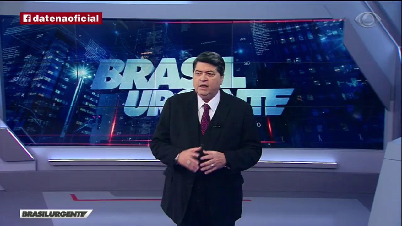 Datena no Brasil Urgente. (Foto: Reprodução/Band)