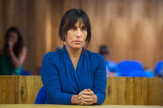 Duda (Gloria Pires) no julgamento em O Outro Lado do Paraíso (Foto: Globo/Raquel Cunha)