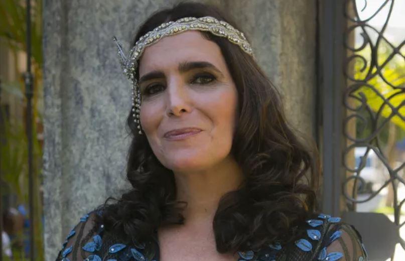 Malu Mader caracterizada para Tempo de Amar (Foto: Rapha Dias/TV Globo)