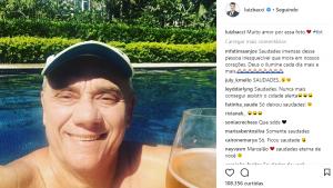 Luiz Bacci posta foto de amigo na Internet e faz homenagem