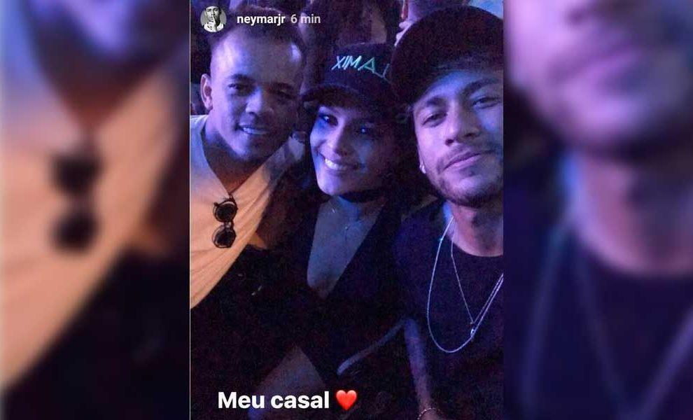 Neymar comenta em publicação de Jota Amancio e Emilly Araújo (Foto: Reprodução)