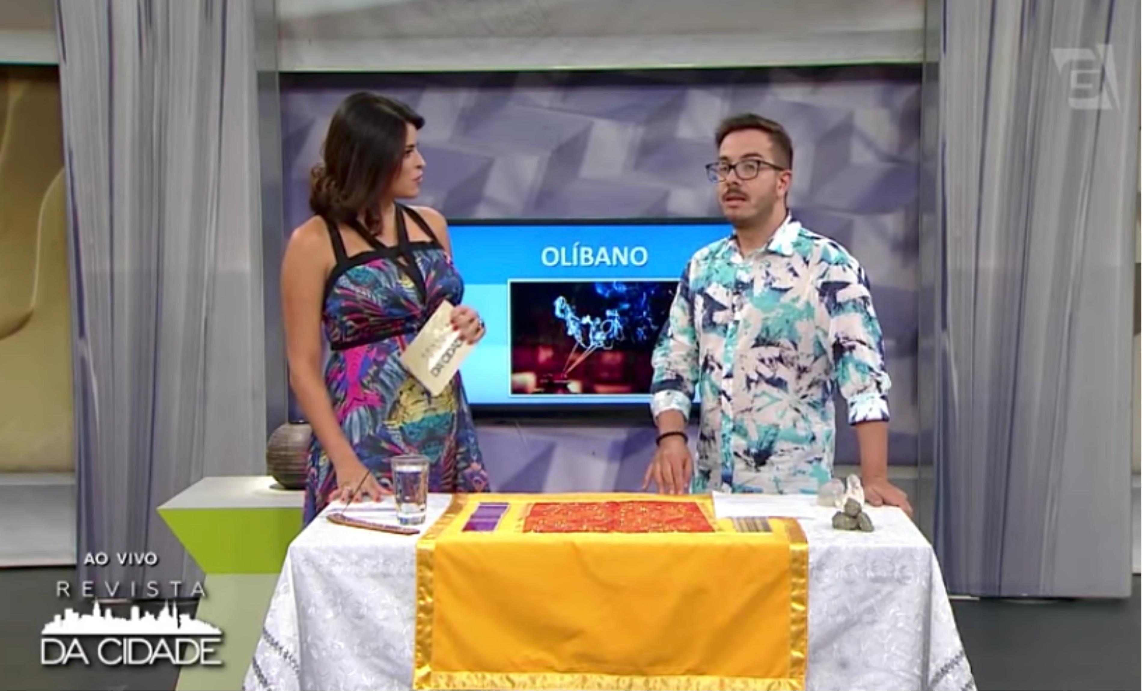 André Mantavonni e Marisy Idalino, que vem substituindo Regiane Tápias, que está de licença maternidade (Foto reprodução)