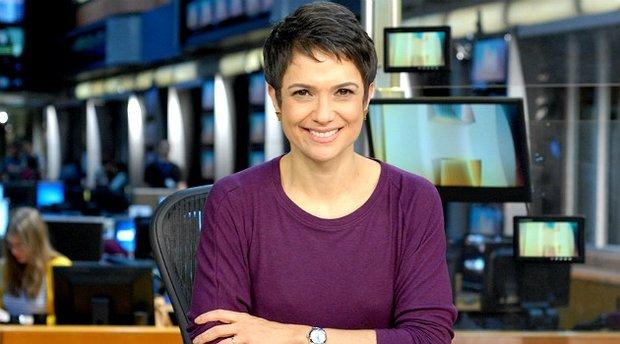Hoje é aniversário jornalista Sandra Annenberg e a apresentadora da Globo, ganhou uma linda homenagem de seu colega Dony De Nusccio (Foto: Divulgação/Globo)