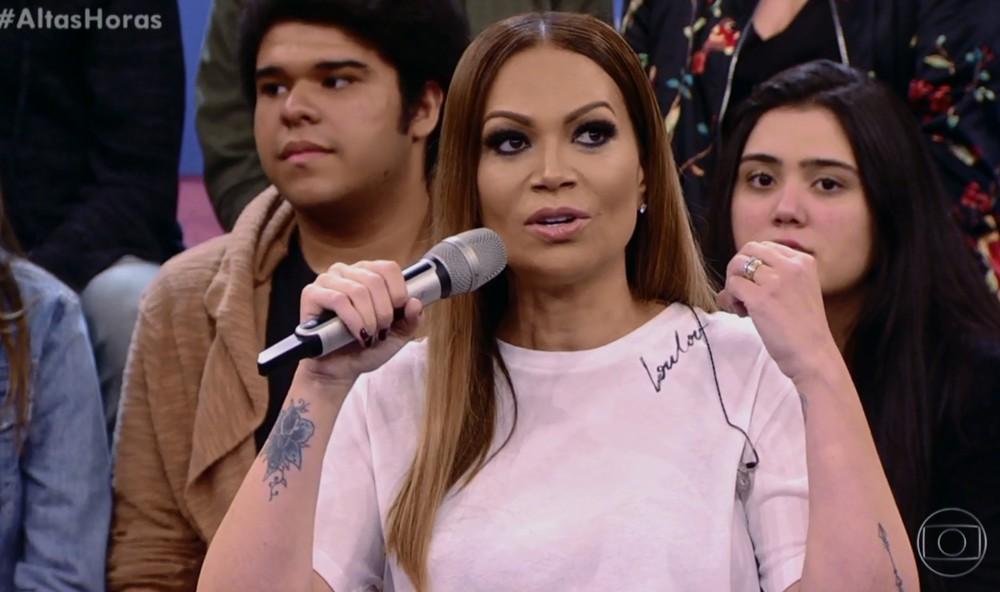 Solange Almeida no 'Altas Horas' (Foto: TV Globo)