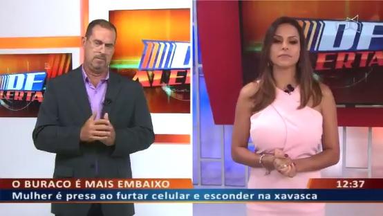 Apresentadora de TV explica o que é 'xavasca' ao vivo. (Foto: Reprodução)