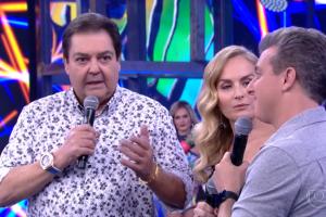 Faustão, Angélica e Luciano Huck no Domingão (Foto: Reprodução/Globo)
