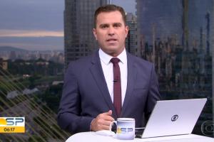 Rodrigo Bocardi no comando do Bom Dia São Paulo (Foto: Reprodução/Globo)