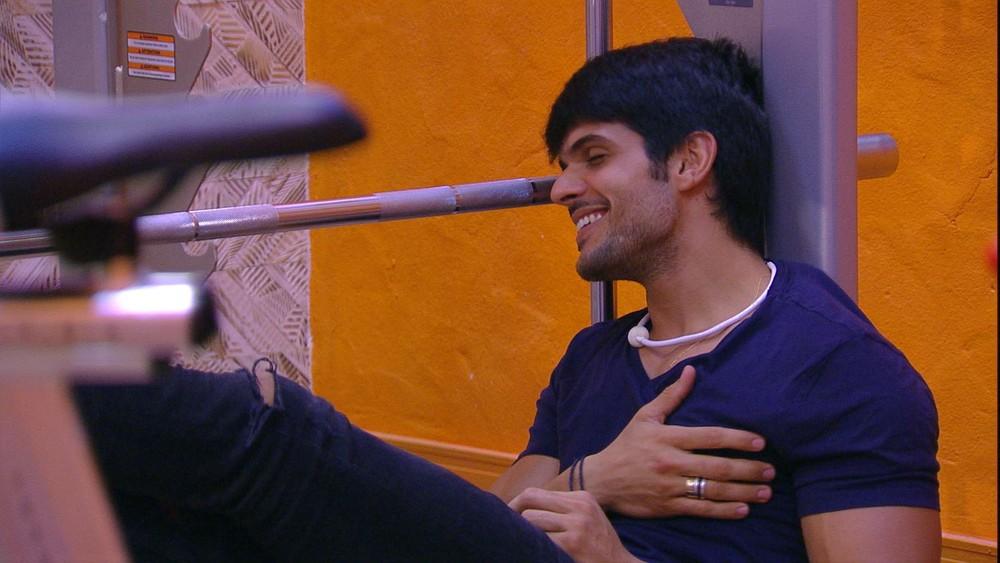 Lucas no BBB18 (Foto: TV Globo)