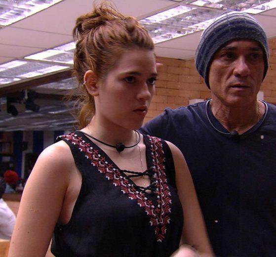 Ana Clara e Ayrton estão revoltados com Lucas no BBB18 (Foto reprodução)