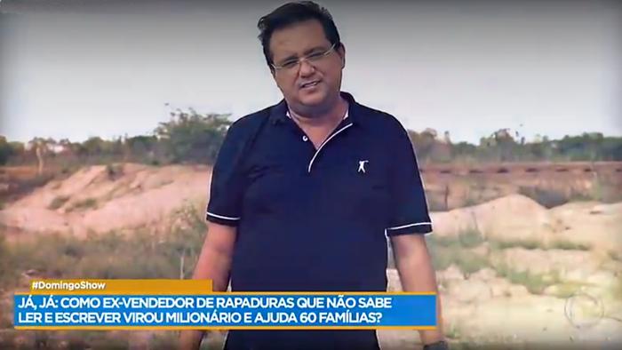 Gugu. Foto do site da O TV Foco que mostra Record se manifesta e diz se Geraldo Luís irá perder programa aos domingos