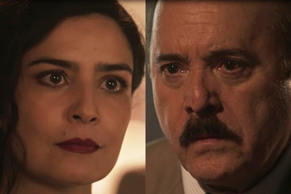 José Augusto enfrenta Delfina em Tempo de Amar (Foto: TV Globo)