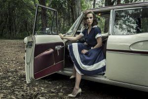 Isabel (Débora Falabella) na minissérie Se Eu Fechar os Olhos Agora (Foto: Mauricio Fidalgo/Globo)