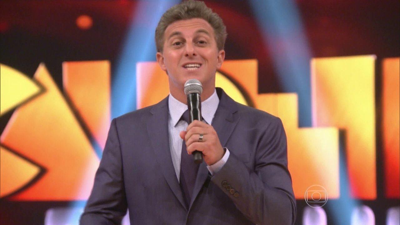O apresentador Luciano Huck. (Foto; Reprodução/TV Globo)