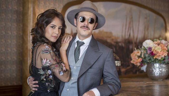 Lucinda (Andreia Horta) e Fernão (Jayme Matarazzo) em cena de Tempo de Amar (Foto: Marília Cabral/Globo)