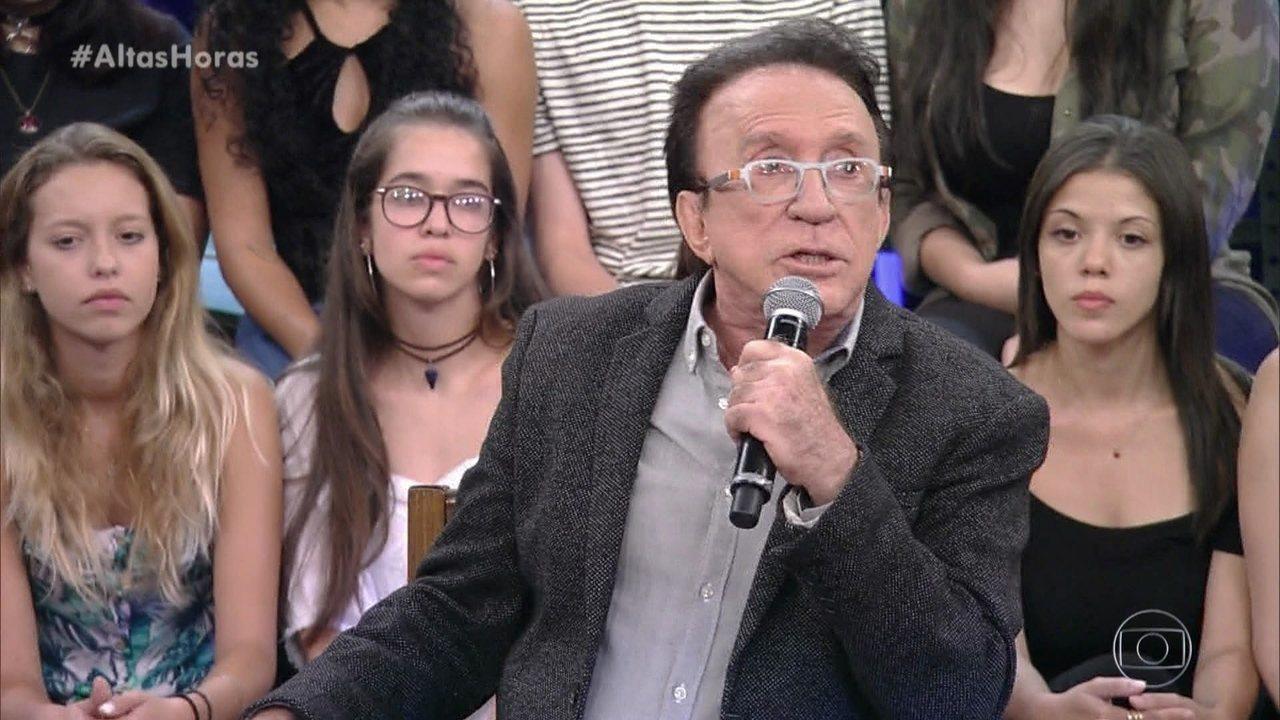 Moacyr Franco no Altas Horas (Foto: Reprodução)