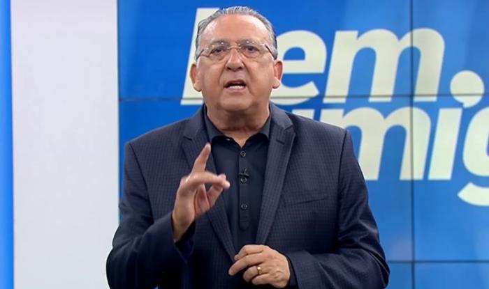 Galvão Bueno no programa Bem, Amigos. (Foto: Reprodução)
