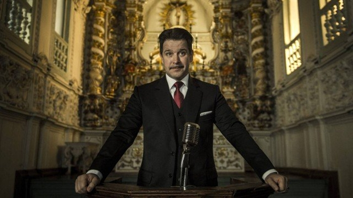 Murilo Benício como o prefeito Adriano Marques Torres em Se Eu Fechar os Olhos Agora. (Foto: Mauricio Fidalgo/Rede Globo/Divulgação)