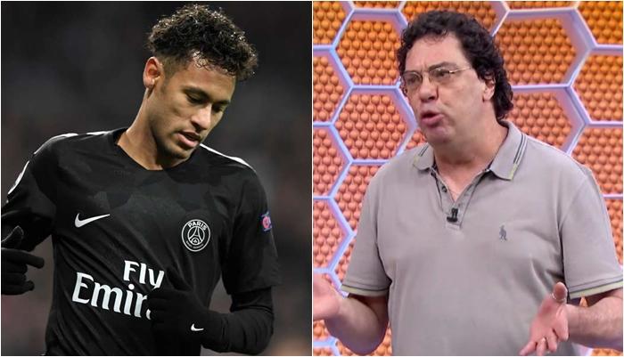 Neymar e Walter Casagrande. (Foto: Montagem/Reprodução)