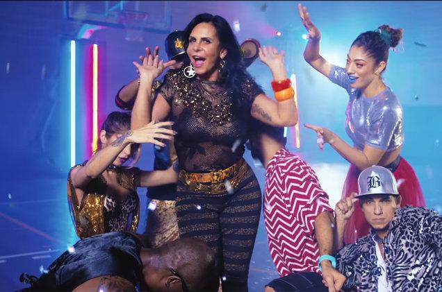 Gretchen esteve no clipe de Katy Perry (Foto: Reprodução)