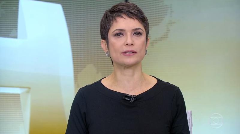 Sandra Annenberg no Jornal Hoje, que sofre derrotas para a Record no ibope (Foto: Reprodução/Globo)