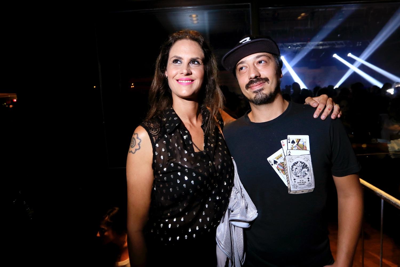 Aritana Maroni e o marido, Paulo Rogério (Foto: Reprodução)
