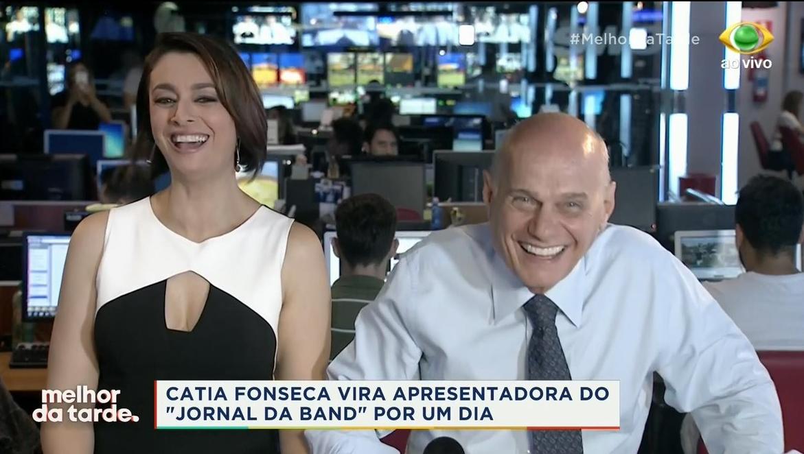 Catia Fonseca faz tour pela Band e Melhor da Tarde repercute nas redes  sociais – TV Foco 9d66f7acf7