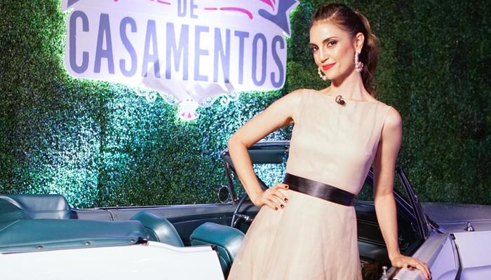 A apresentadora Chris Flores na estreia da 2ª temporada do Fábrica de Casamentos (Foto: Victor Silva/SBT)