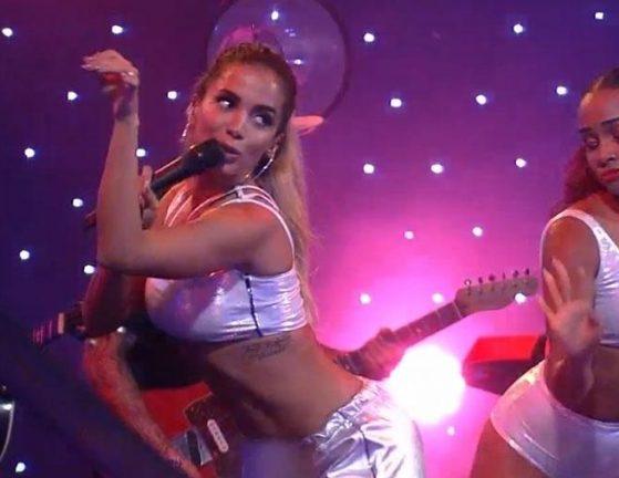 A cantora Anitta na festa do BBB (Foto: Reprodução)