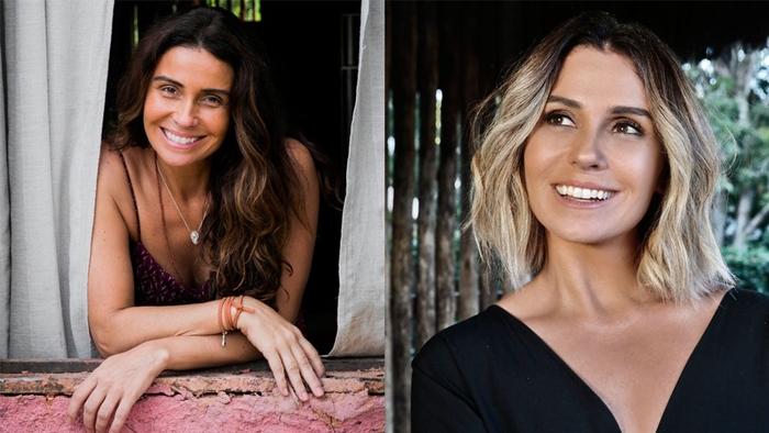 Giovanna Antonelli com Luzia e Ariella nas duas fases de Segundo Sol (Foto: João Miguel Júnior/Globo/Fernando Torquatto)
