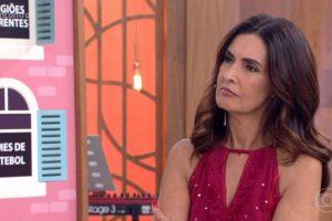 Fatima Bernardes. Foto do site da O TV Foco que mostra Convidado do Encontro deixa Fátima Bernardes desconcertada ao revelar paixão