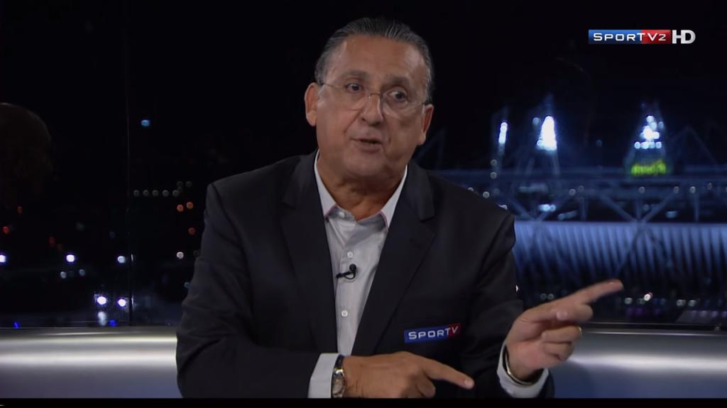 Galvao Bueno. Foto do site da O TV Foco que mostra Ganhando mais de R$ 5 milhões por mês, Galvão Bueno adia aposentadoria na Globo