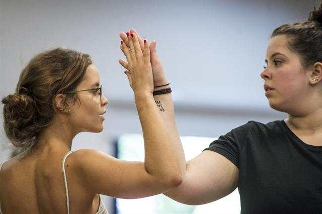 Joana Borges na preparação de elenco de Malhação: Vidas Brasileiras (Foto: Globo/João Cotta)