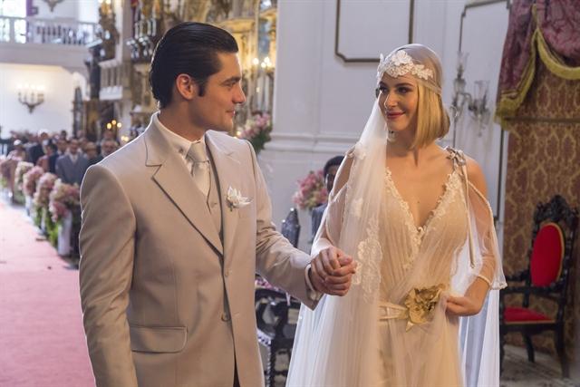 Celina (Barbara França) e Artur (Guilherme Leicam) (Foto: Globo/Marília Cabral)
