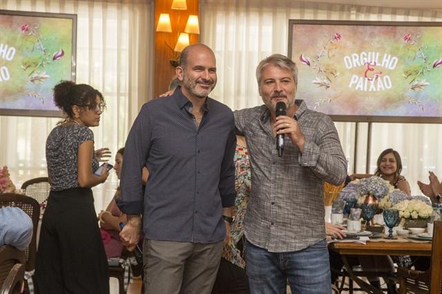 O autor Marcos Bernstein e o diretor Fred Mayrink (Foto: Globo/Marília Cabral)