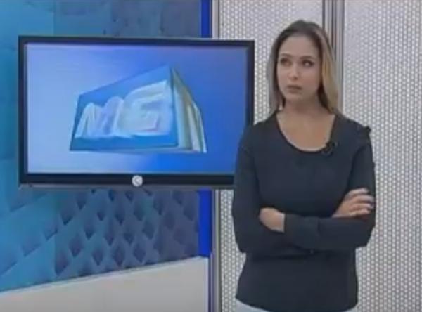 Jornalista Livia Zanolini solta palavrão no MGTV da Globo (Foto: Reprodução)