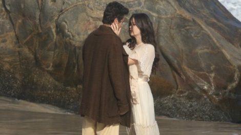 Vicente (Bruno Ferrari) e Maria Vitória (Vitória Strada) em Tempo de Amar (Foto: Reprodução / AGNews)