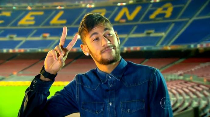 Neymar em entrevista à Globo (Foto: Reprodução/Globo)
