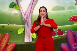 A apresentadora Silvia Abravanel no Bom Dia & Cia. (Foto: Reprodução)
