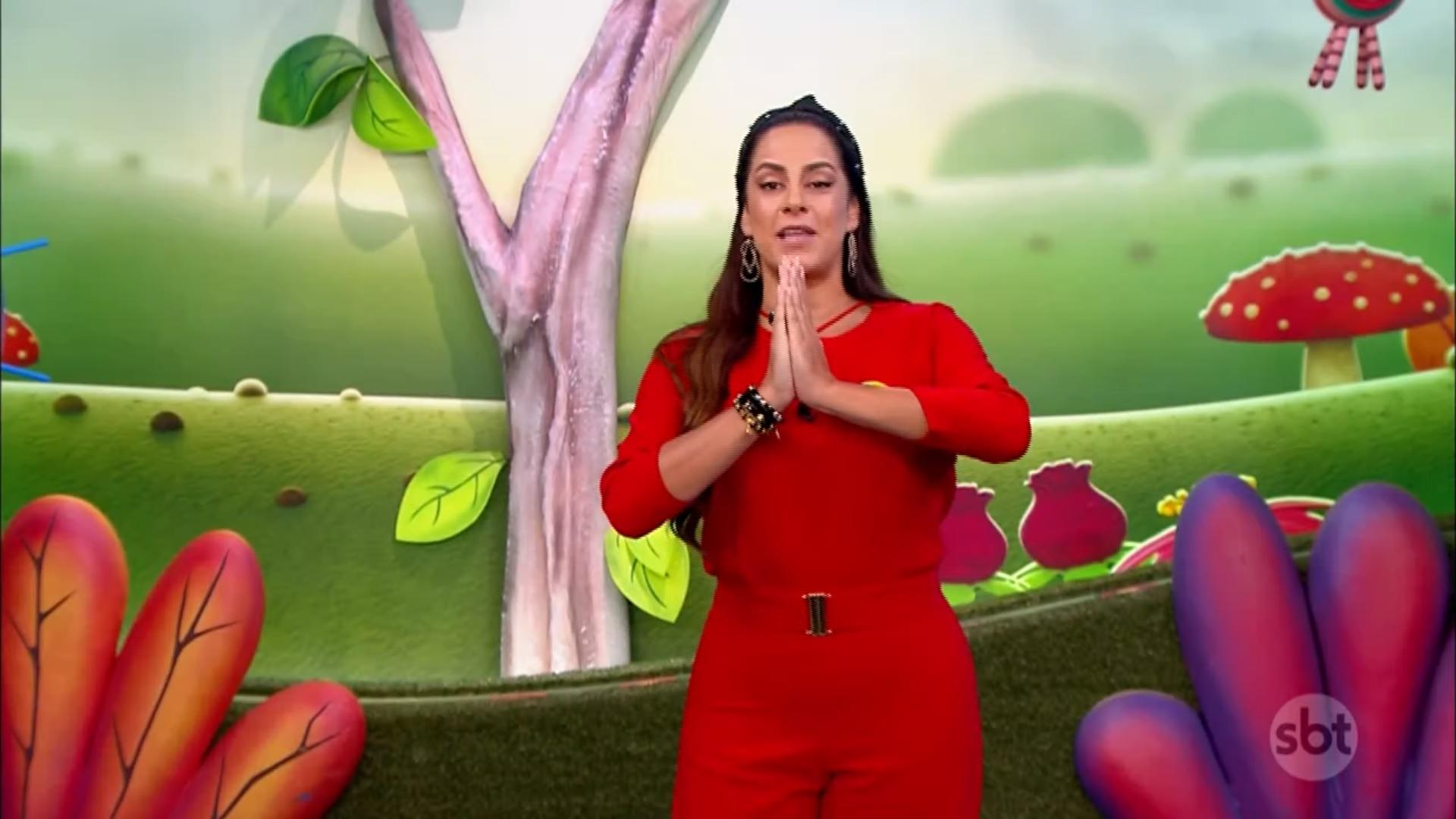 A apresentadora do Bom Dia & Companhia e filha do dono do SBT, Silvio Santos, Silvia Abravanel. (Foto: Reprodução)